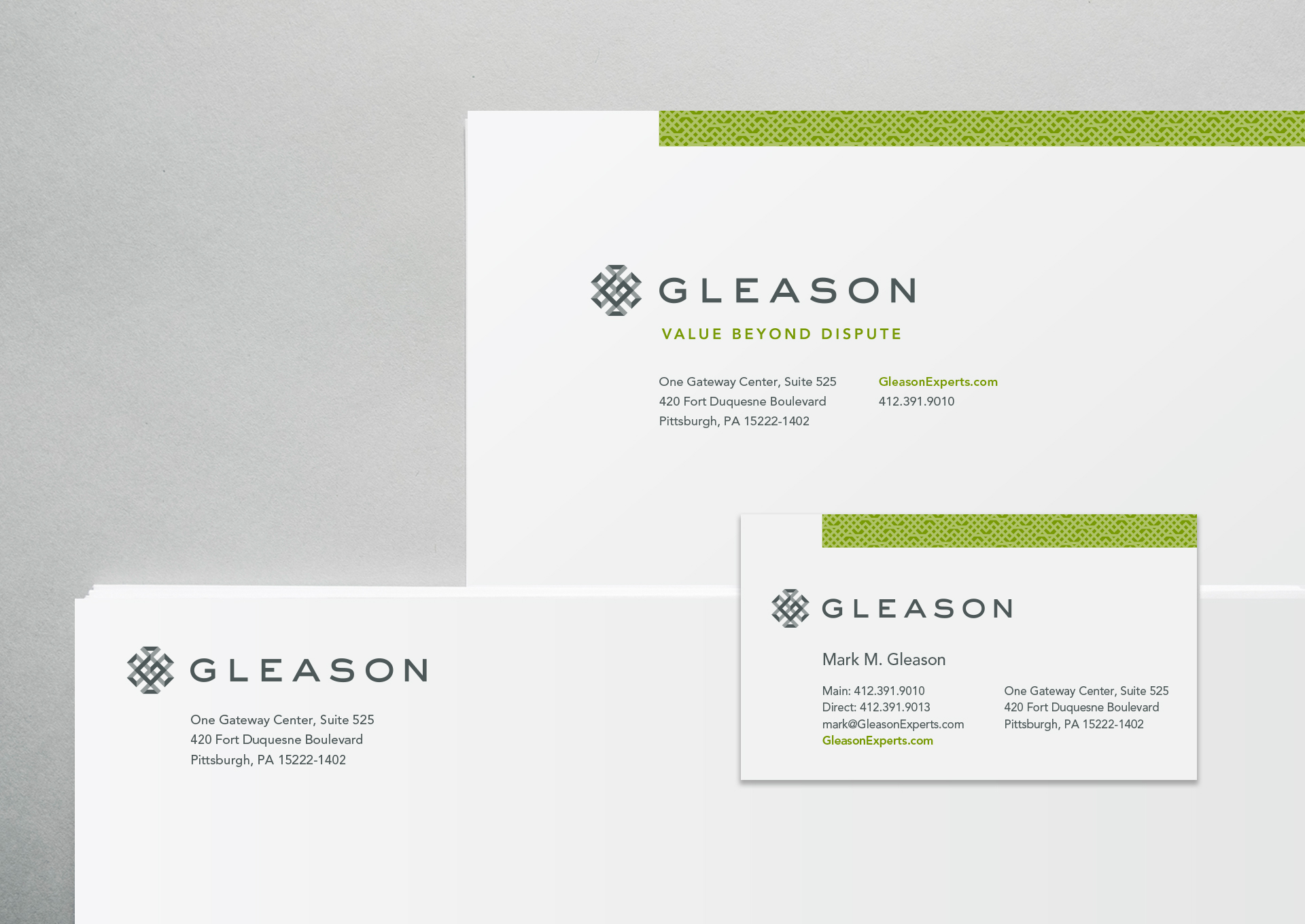 Gleason Brand stationery