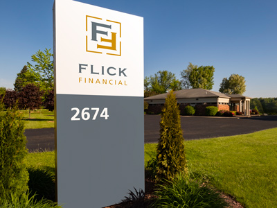 Flick Financial Signage